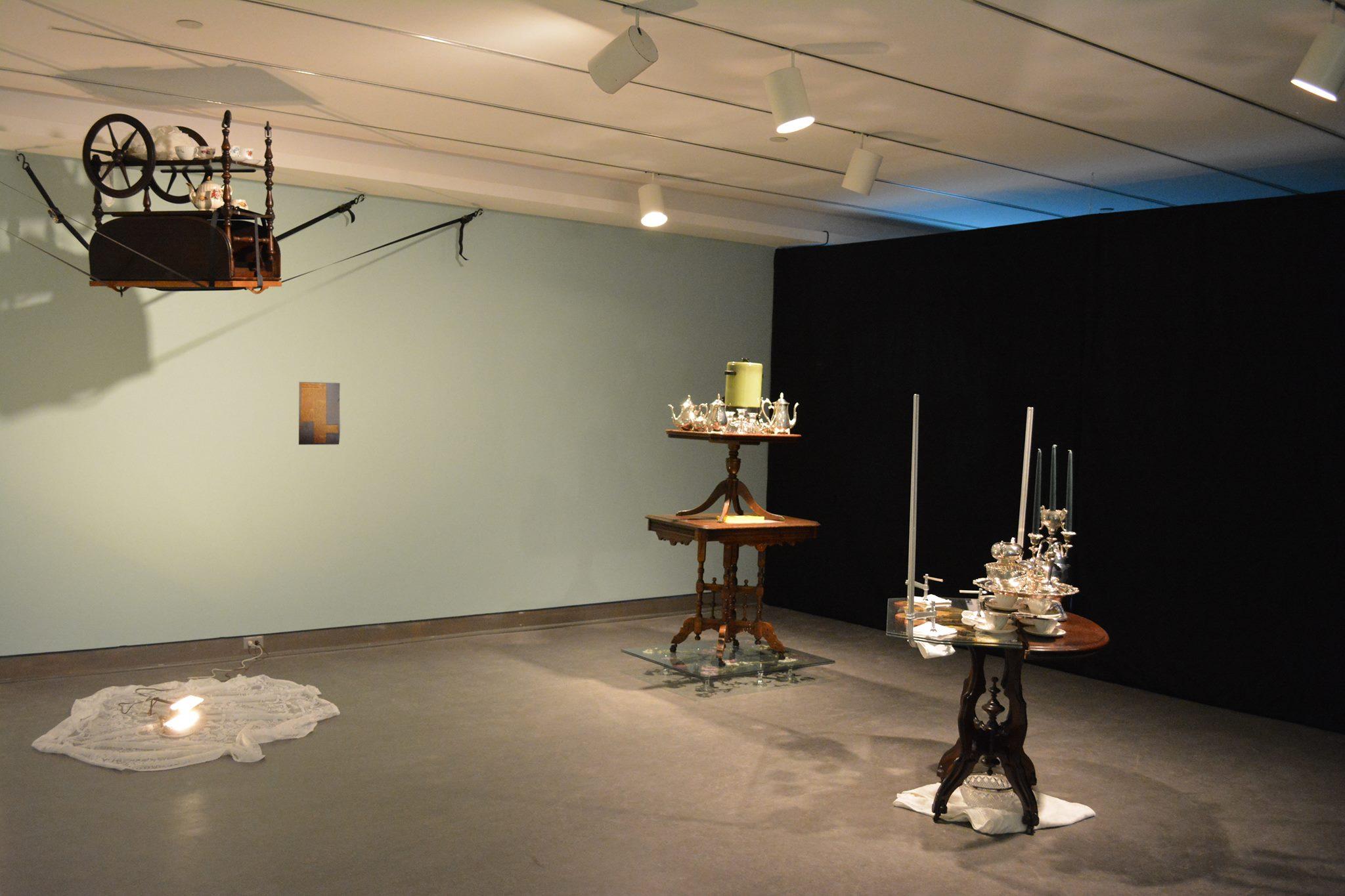 Jon Sasaki, Two Roads Diverged in a Wood, 2015, installation view, Ottawa Art Gallery, Ontario, Canada.