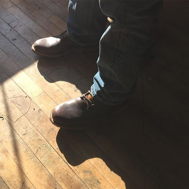 Mitch Bellamy came in to pick up his Buckham Boots today and he loved them!! Said they fit just like a glove!