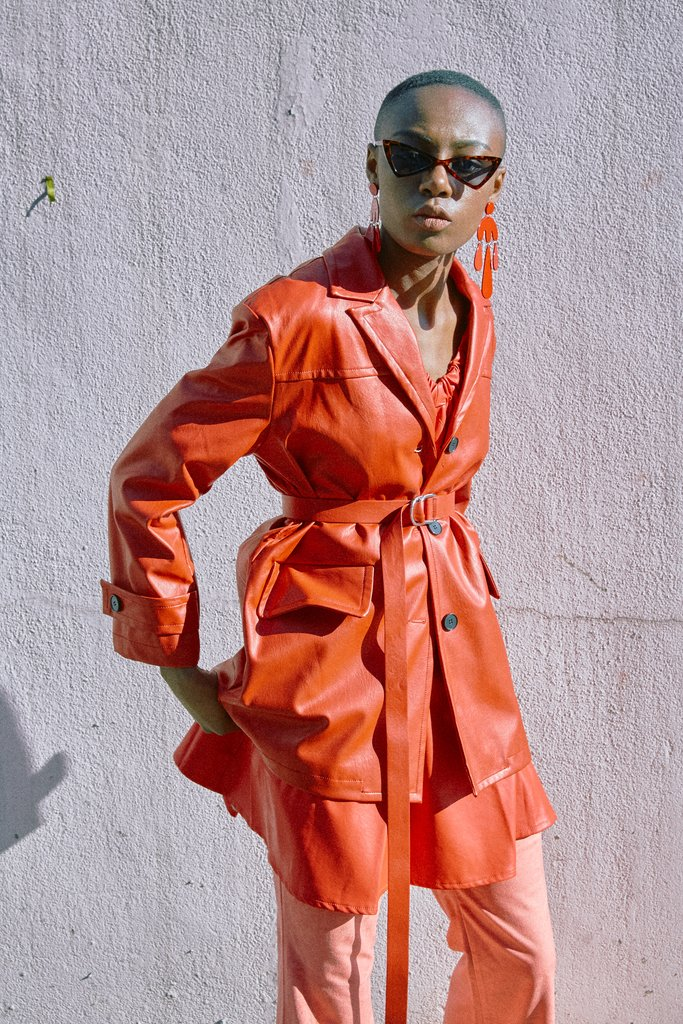 To add some spice to your spring.   LOÉIL trench coat $142
