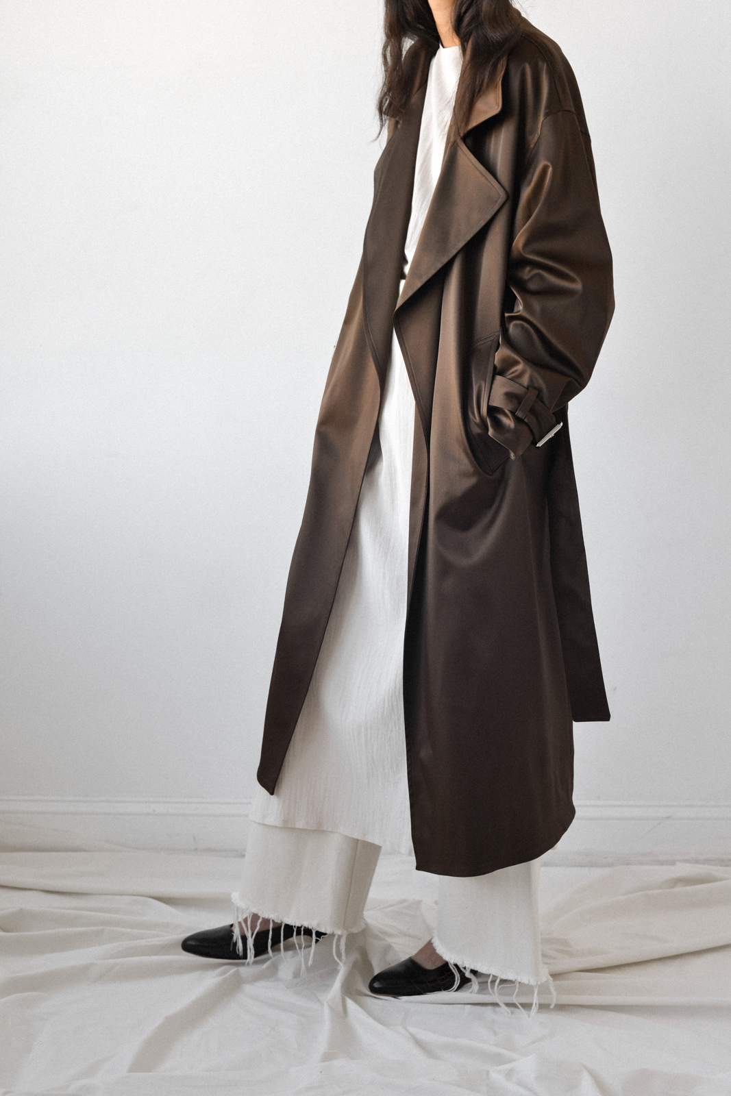 For someone serious   Nomia | Oversized Trench in Earth from Either,and $450