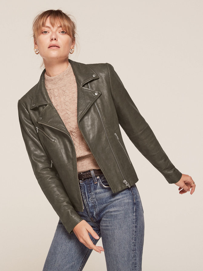 Good girl's biker jacket  Veda Bad Leather Jacket from Reformation $498