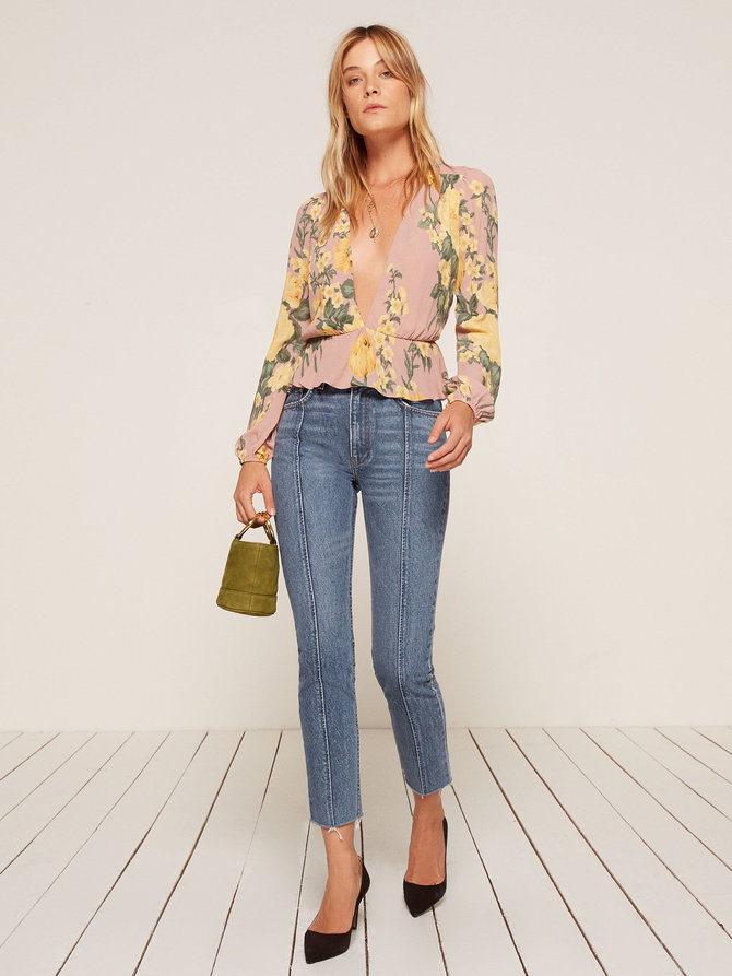 Romantic date go-to   Seamed Jean from Reformation $148
