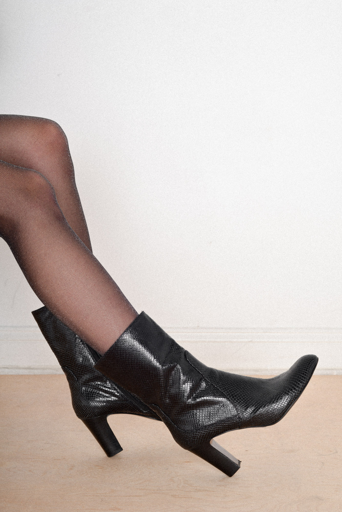 For when you feel like Bond's girl   Vintage Cole Haan Snakeskin Boots from Either, And $102