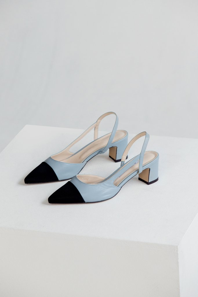 For warmer days   Two Tone Slingback Pumps from LOÉIL $78.00