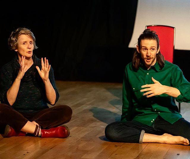 """""""Phrases"""" by  Lewys Jaq Bannon Holt was performed, accompanied by BSL interpreter Sue MacLaine! A first for OOPS Festival & the Swallowsfeet Collective. We strive to make our festival as accessible as possible and this was a really wonderful collaboration. A thought provoking piece about anxiety and those of us who think slightly too much... #OOPSFest 2020 Open Call coming in just 6 days time!! C R E D I T S: """"Phrases"""" Choreographer and performer: Lewys Holt BSL interpreter: Sue MacLaine Images Featuring: Lewys Holt & Sue MacLaine Image Credit: Paul Seaby"""
