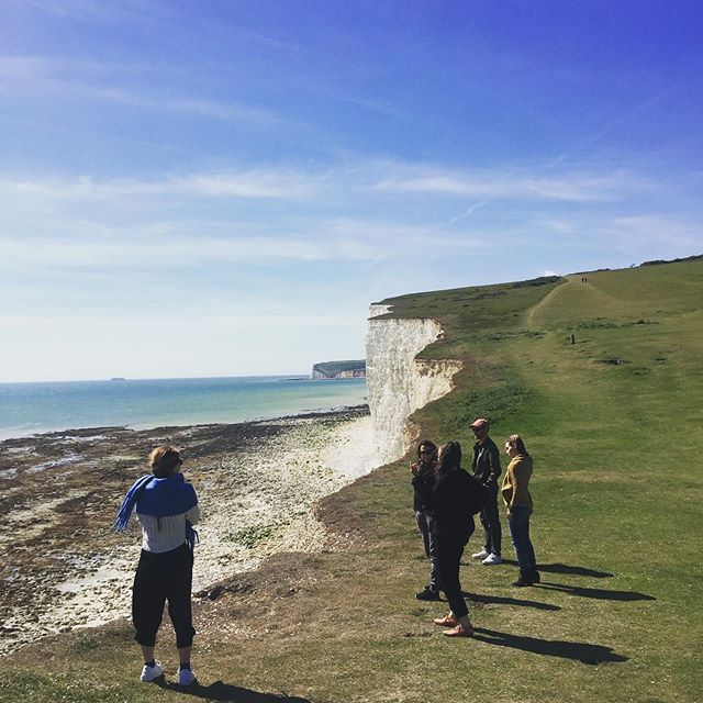Cutting (cliff) edge contemporary dance. The collective during a day of reflections and aspirations in the beautiful English countryside with the wonderful @nikkijtommo  #skysthelimit #seasideheights #oopsfestival #brightonandhove #coastal #coastalstyle