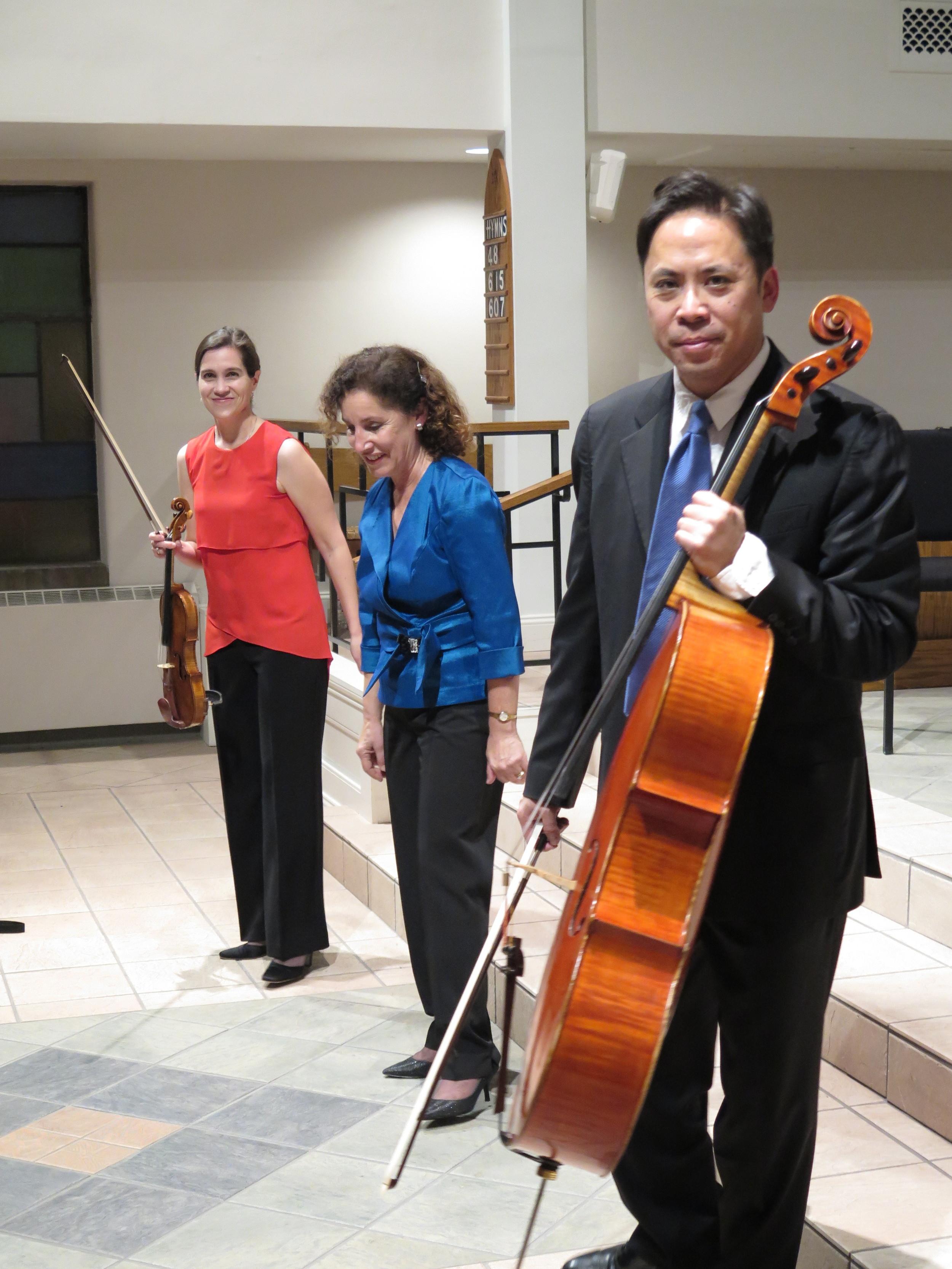 The Blakemore Trio: Carolyn Huebl, violin, Amy Dorfman, Piano, Felix Wang, cello