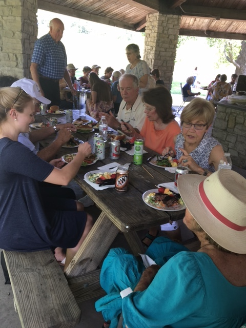 Parish picnic at Peffer Park on a Sunday in June: great fellowship and food!