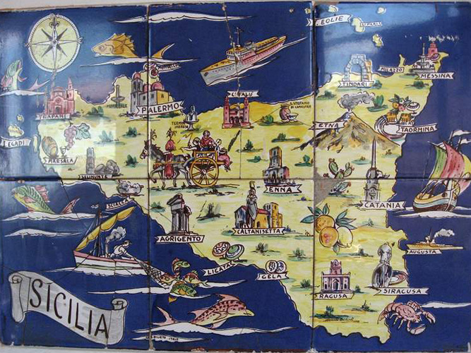 Sicily, the Eastern Cliffs - ceramic map Caltagirone.jpg
