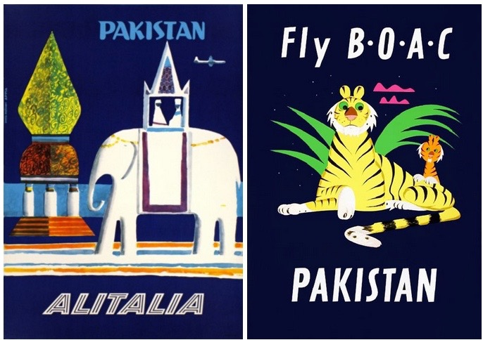 Source: 1958 Alitalia Pakistan, Galerie 123 and 1953 Fly Boac, UsmanMalik