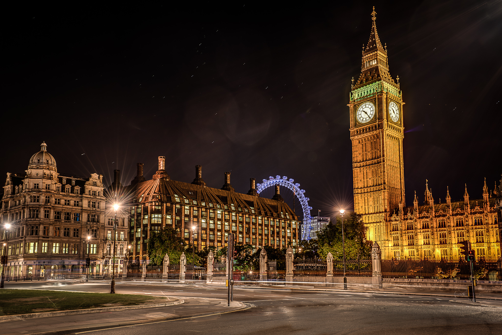 Big Ben in London in der Nacht