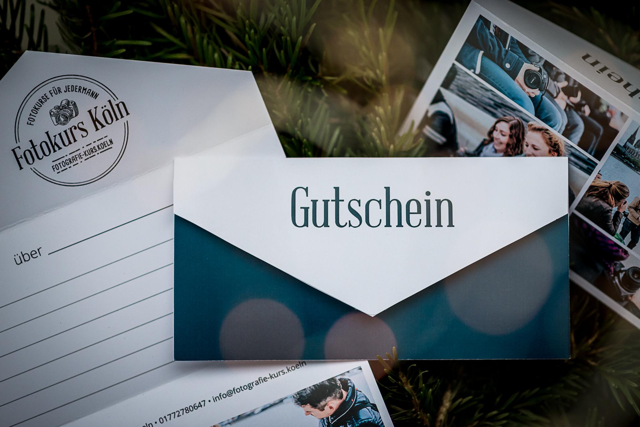 Gutschein für einen Fotoworkshop in Köln zum verschenken von Fotowissen