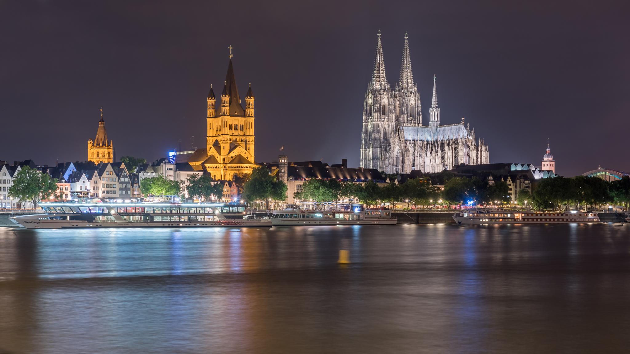 2017-07-28 Nachtkurseindrücke Kölner Dom und Groß St. Martin