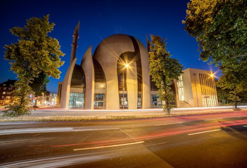 Ehrenfelder Moschee bei Nacht
