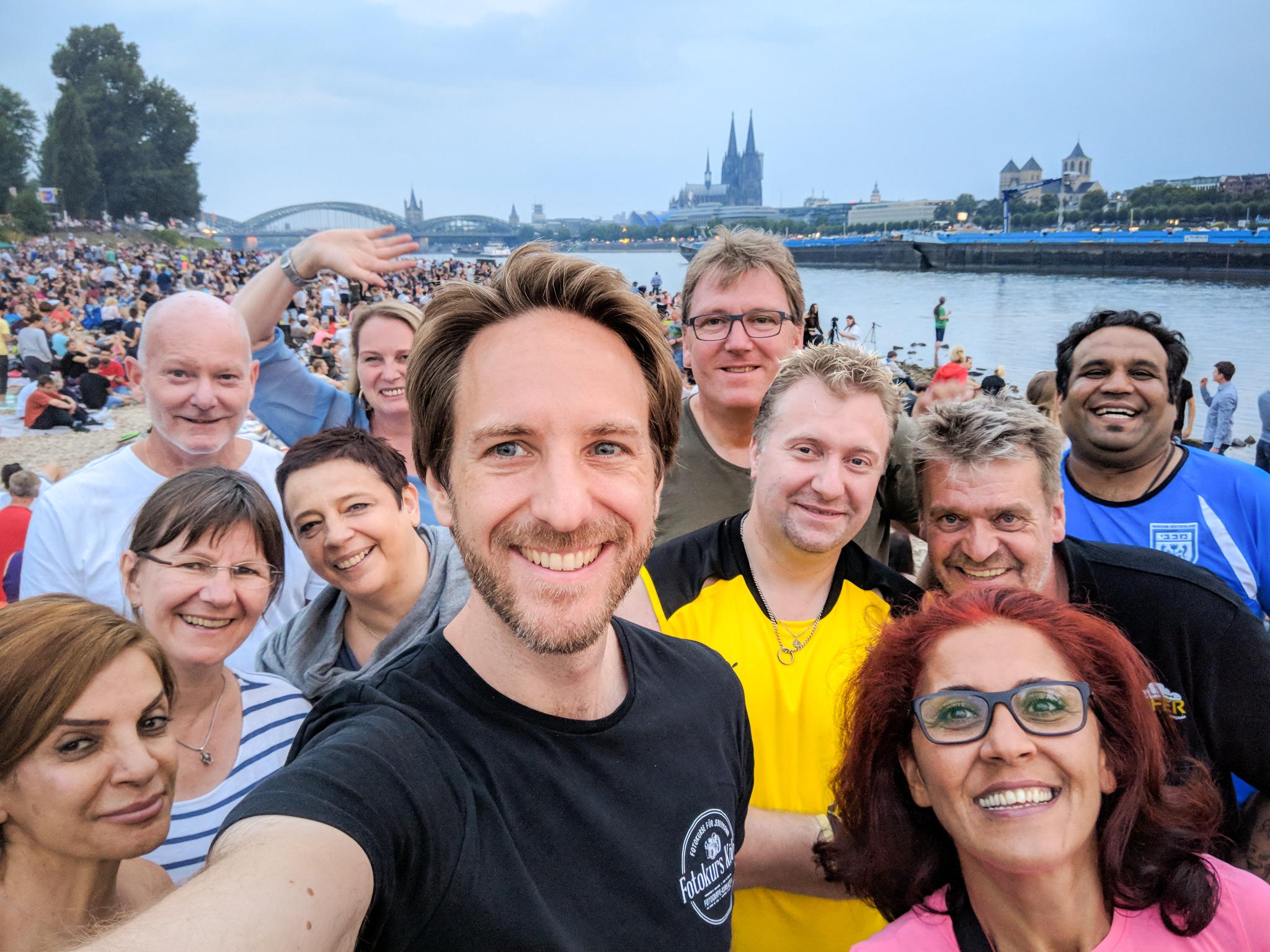 Gruppenbild 17. Photowalk Kölner Lichter