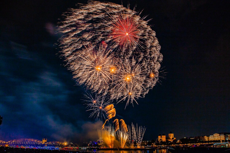 Kölner Lichter 2018 Feuerwerksbild Photowalk Fotokurse