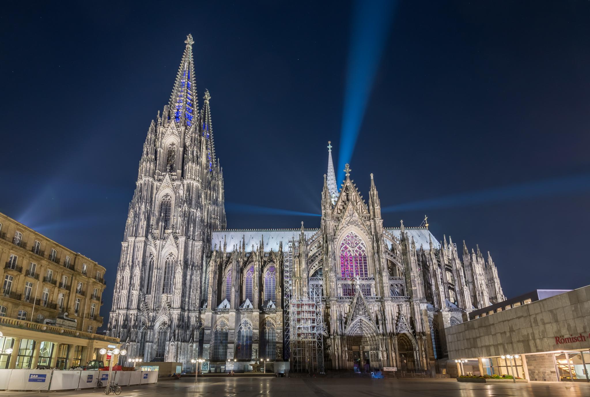 Kölner Dom Silent Mod gamescom Beleuchtung