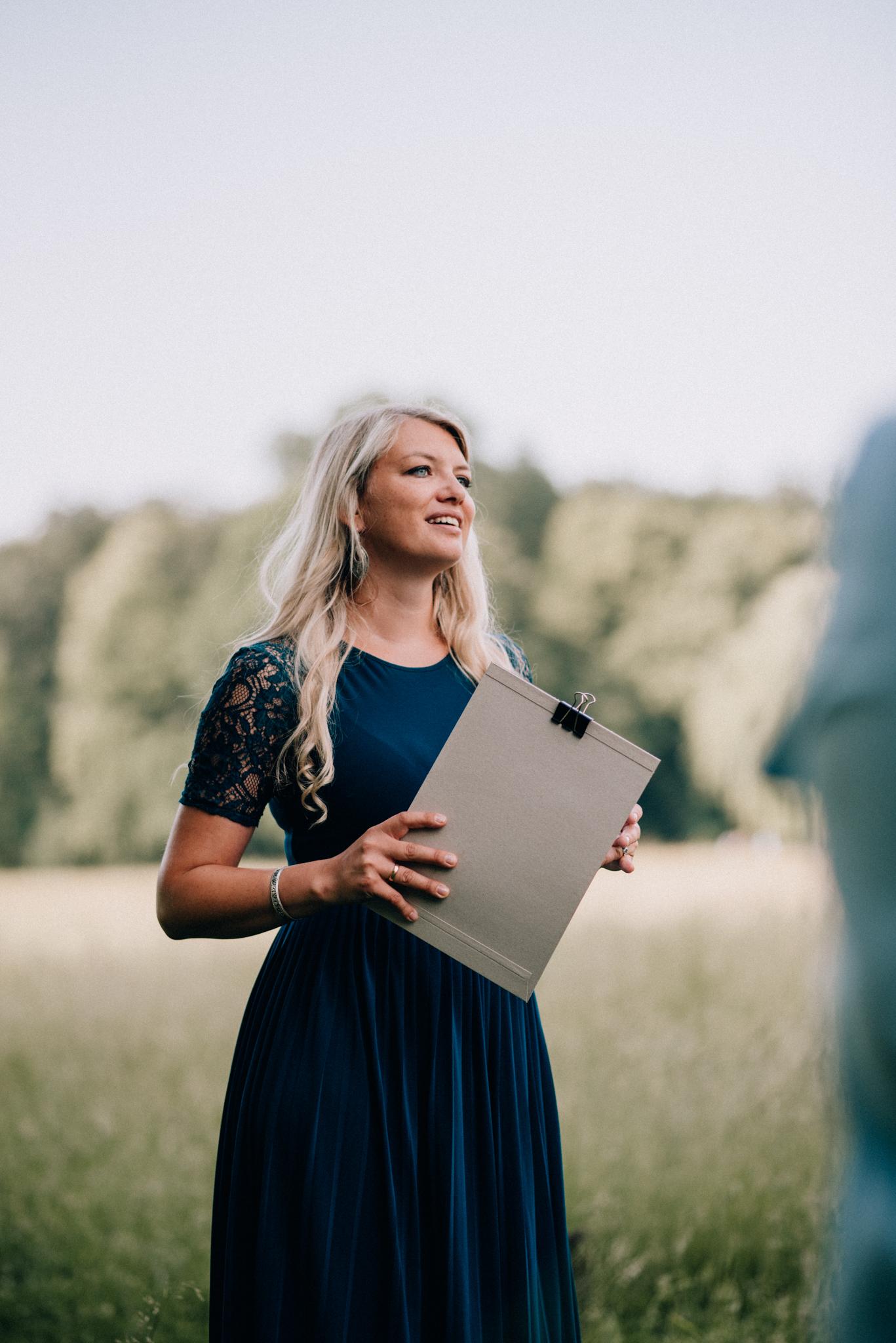Linda bei Brautpaarshooting Kurs