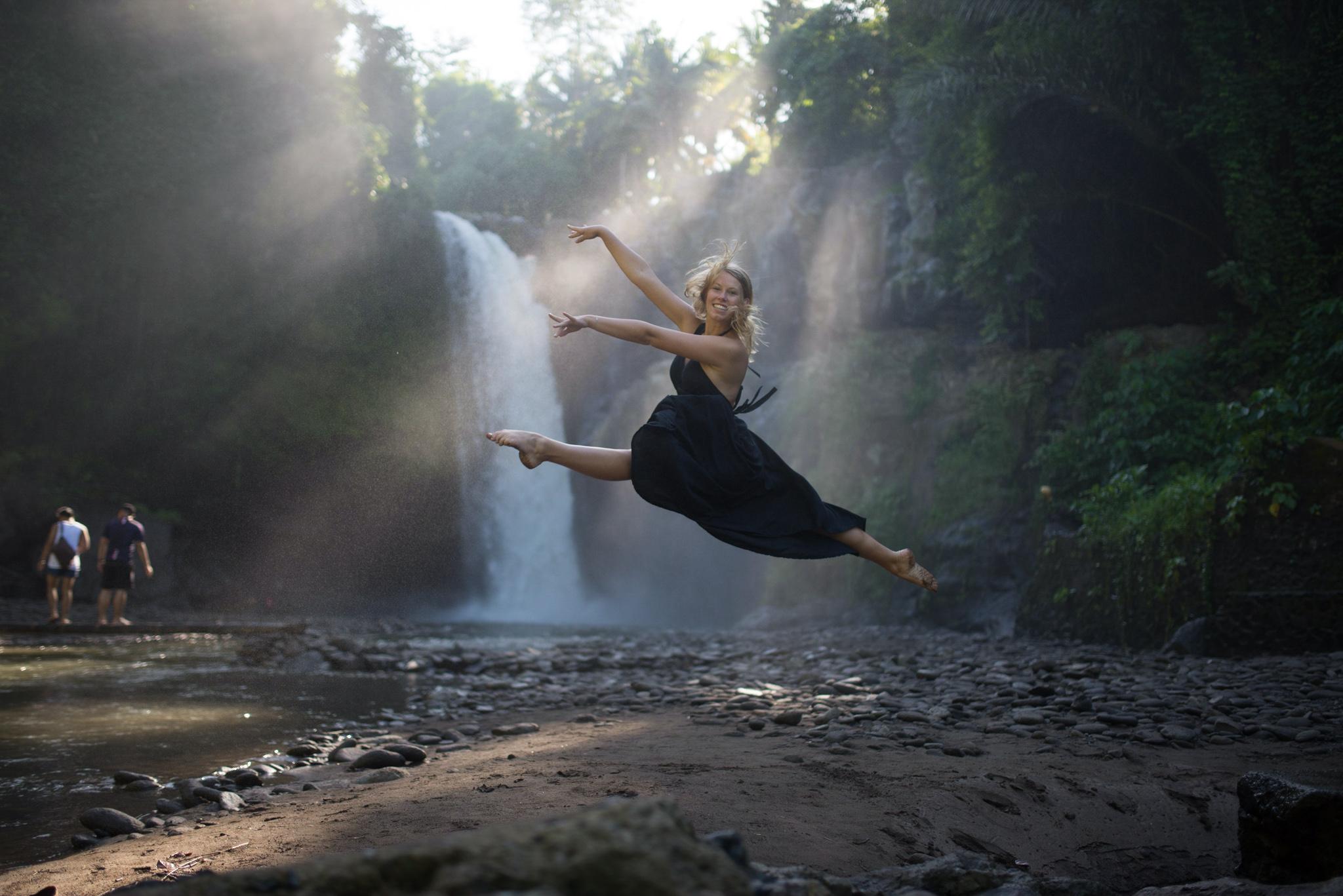 Sprung Wasserfall Liv
