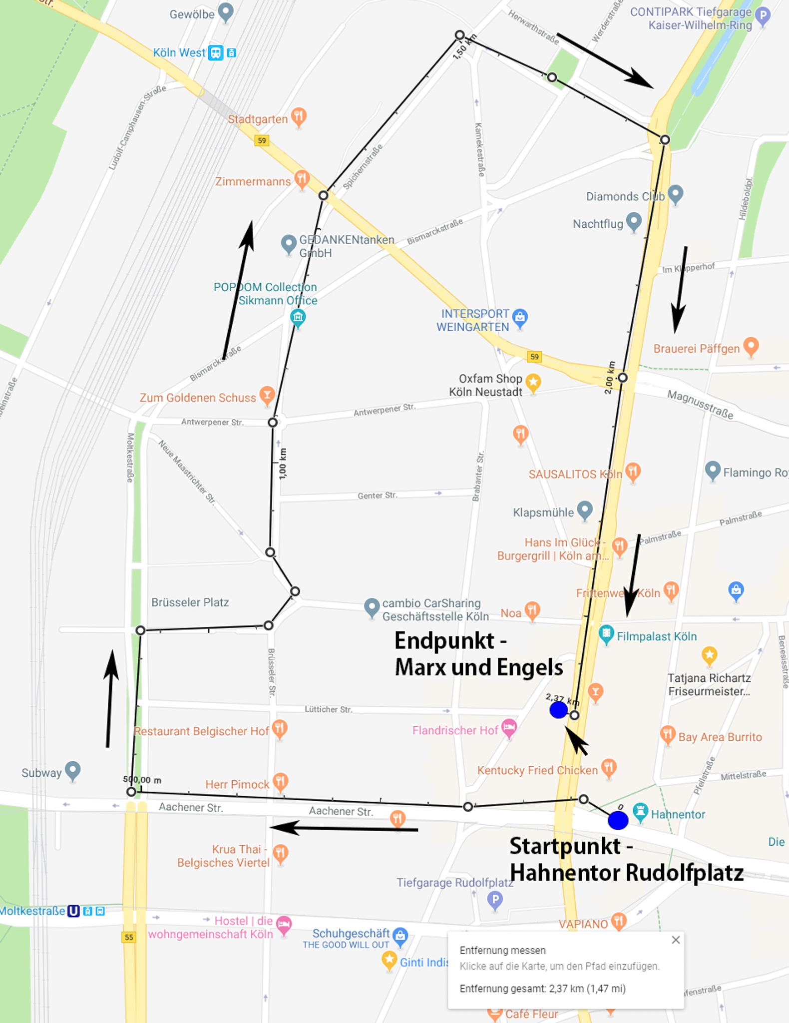 Strecke 26 Photowalk Belgisches
