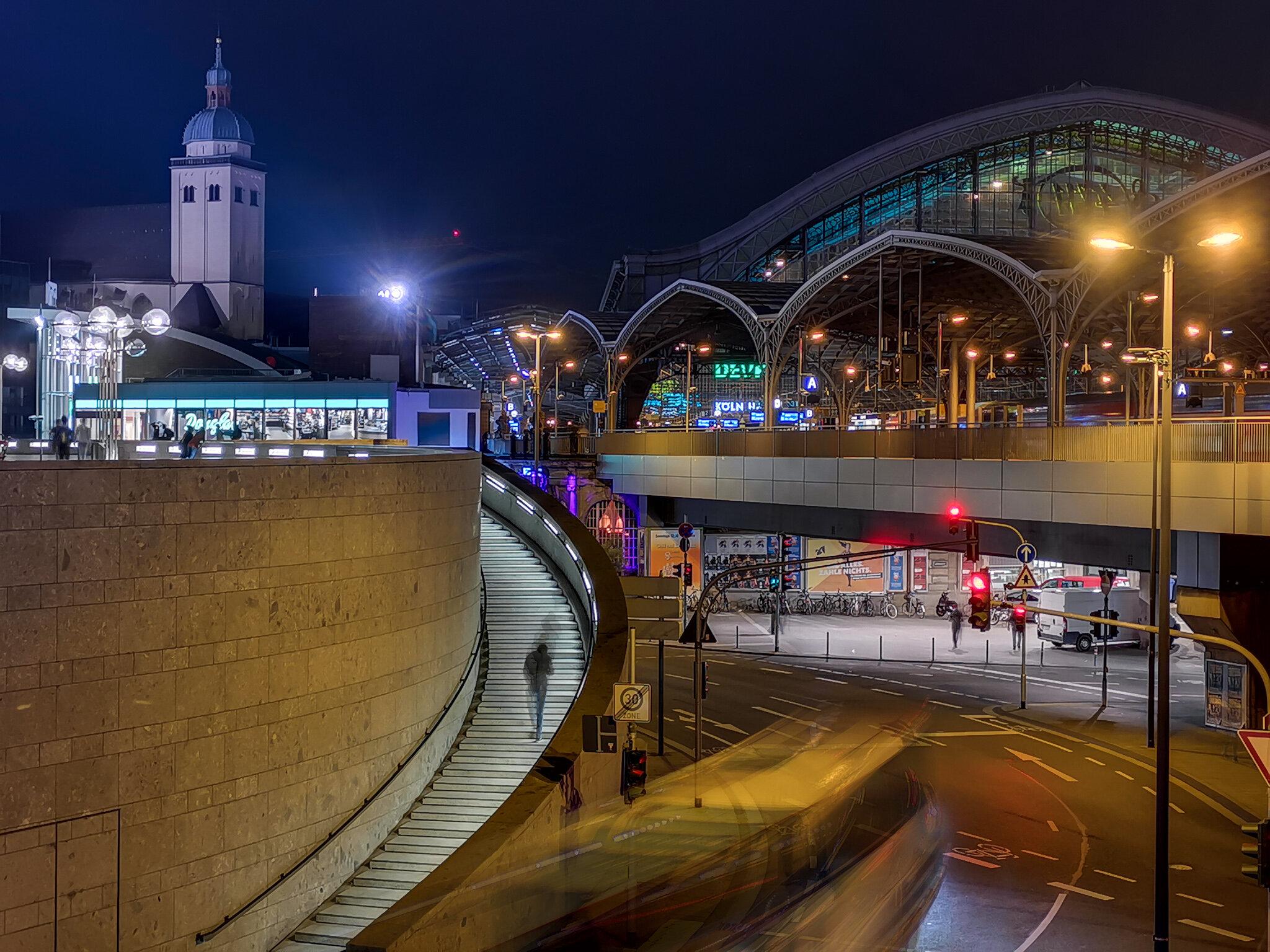 Nachtfoto Köln Smartphone Handy Kamera
