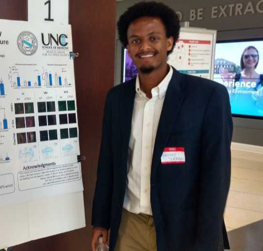 Adonay Teklezghi, Lab Technician - Adonay graduated with a BA in Biology and Chemistry from the University of North Carolina at Chapel Hill in 2018. He started working with the McElligott lab as a Lab Assistant during his junior year. Adonay's research has focused mainly on noradrenergic activity during withdrawal from alcohol. He plans to spend this year working for the McElligott Lab while applying to medical school.Adonay was born in Stuttgart, Germany and grew up in Charlotte, North Carolina. He enjoys playing soccer and traveling. He spent a month this past summer backpacking through Europe!Email: adonayt@live.unc.edu