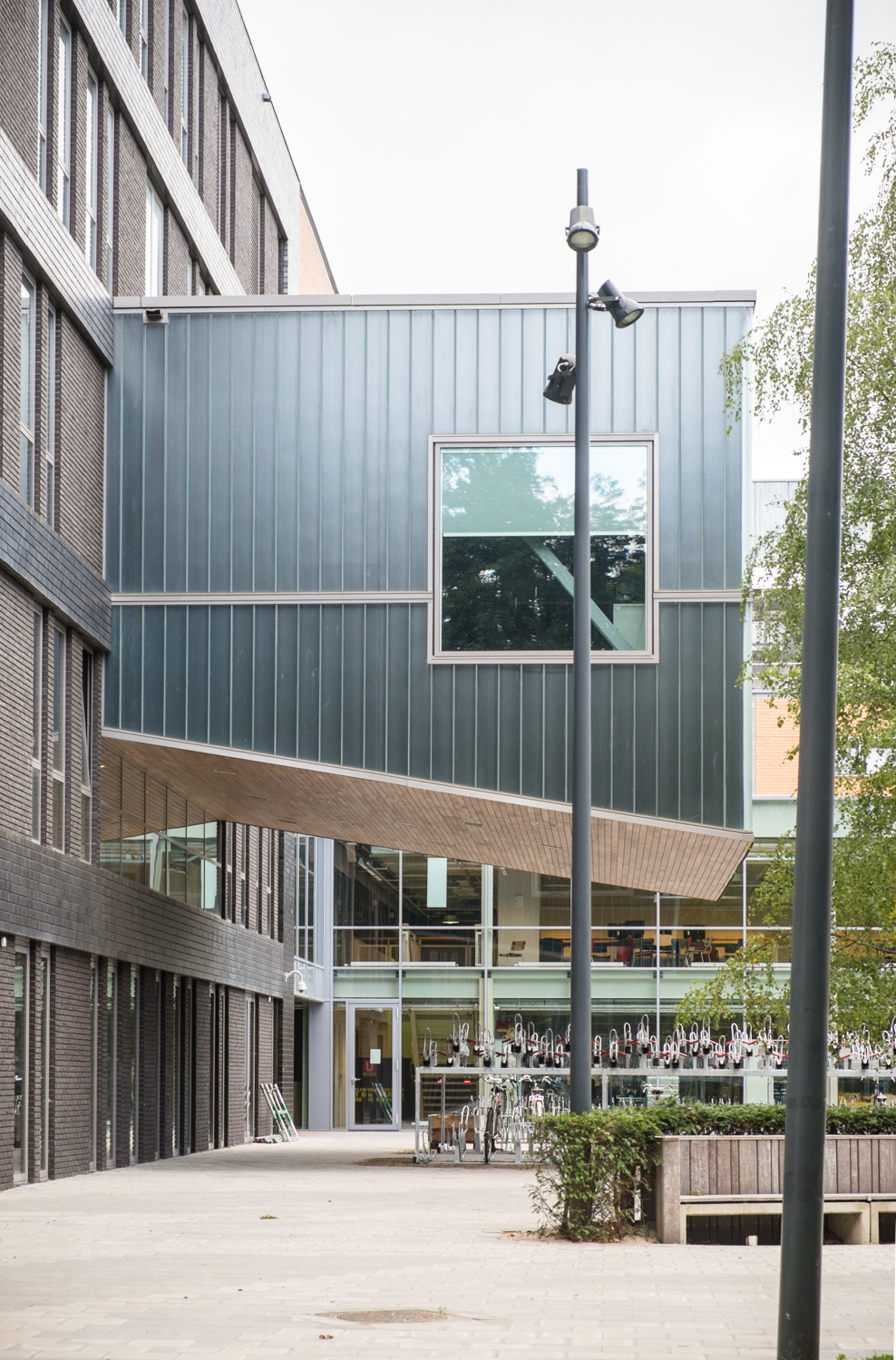 Facade #6: Cantilever series #1, dorm of Utrecht Highschool.