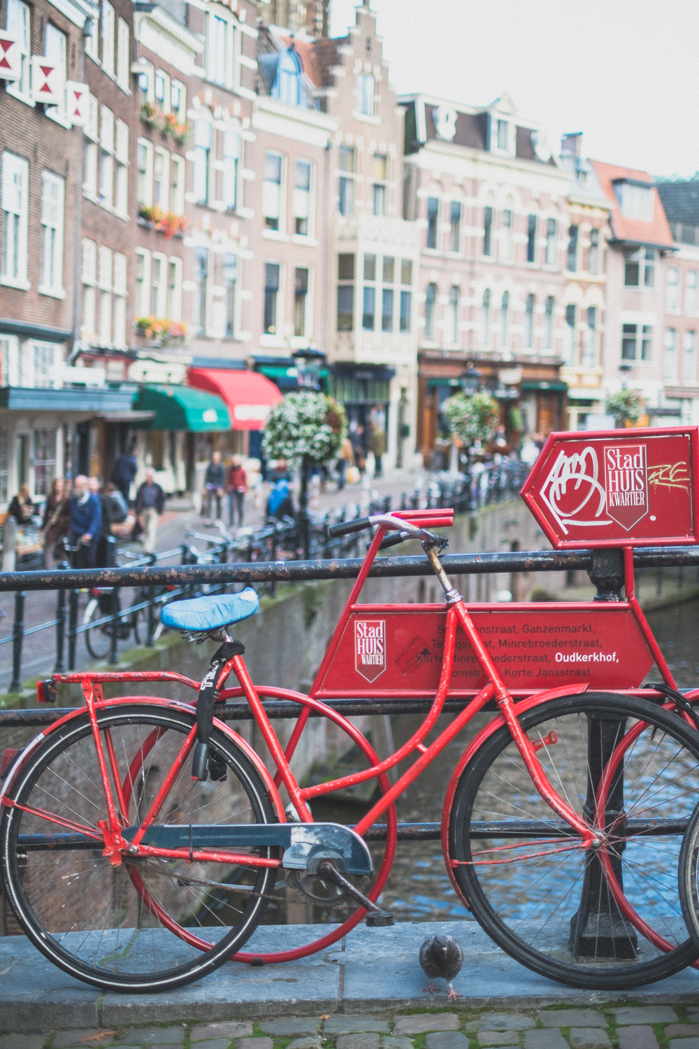 Biking is common as public transportation in Utrecht as it is throughout the country.
