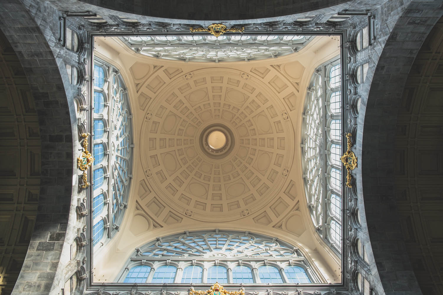 Ceiling of the original  terminus building by Louis Delacenserie.