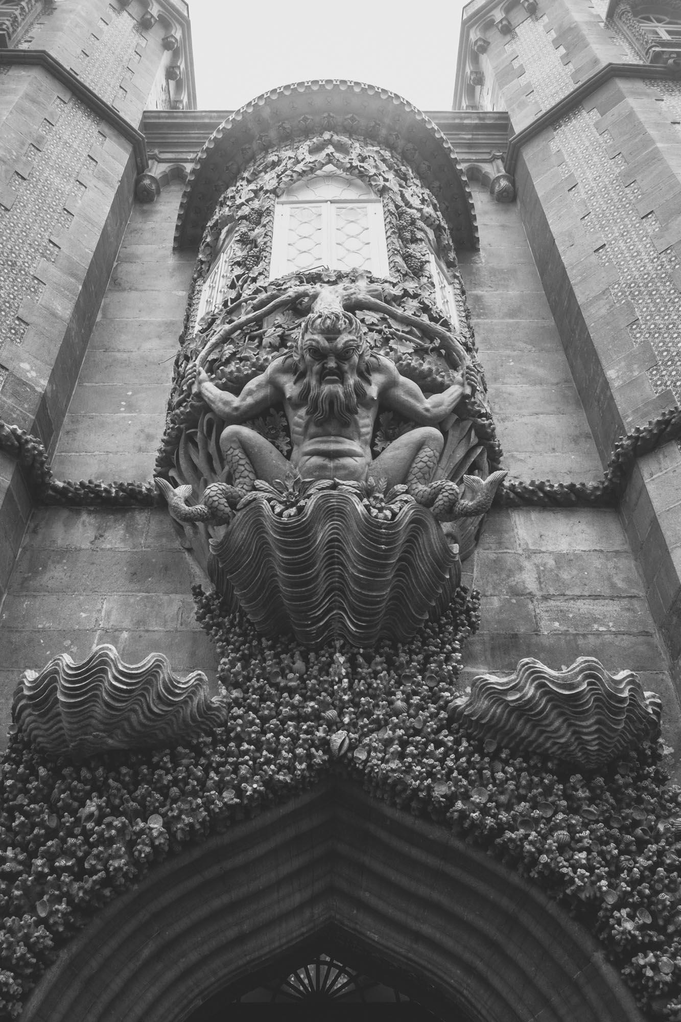 Eclectic decorative element of Palacio de Pena. Such an aftermath