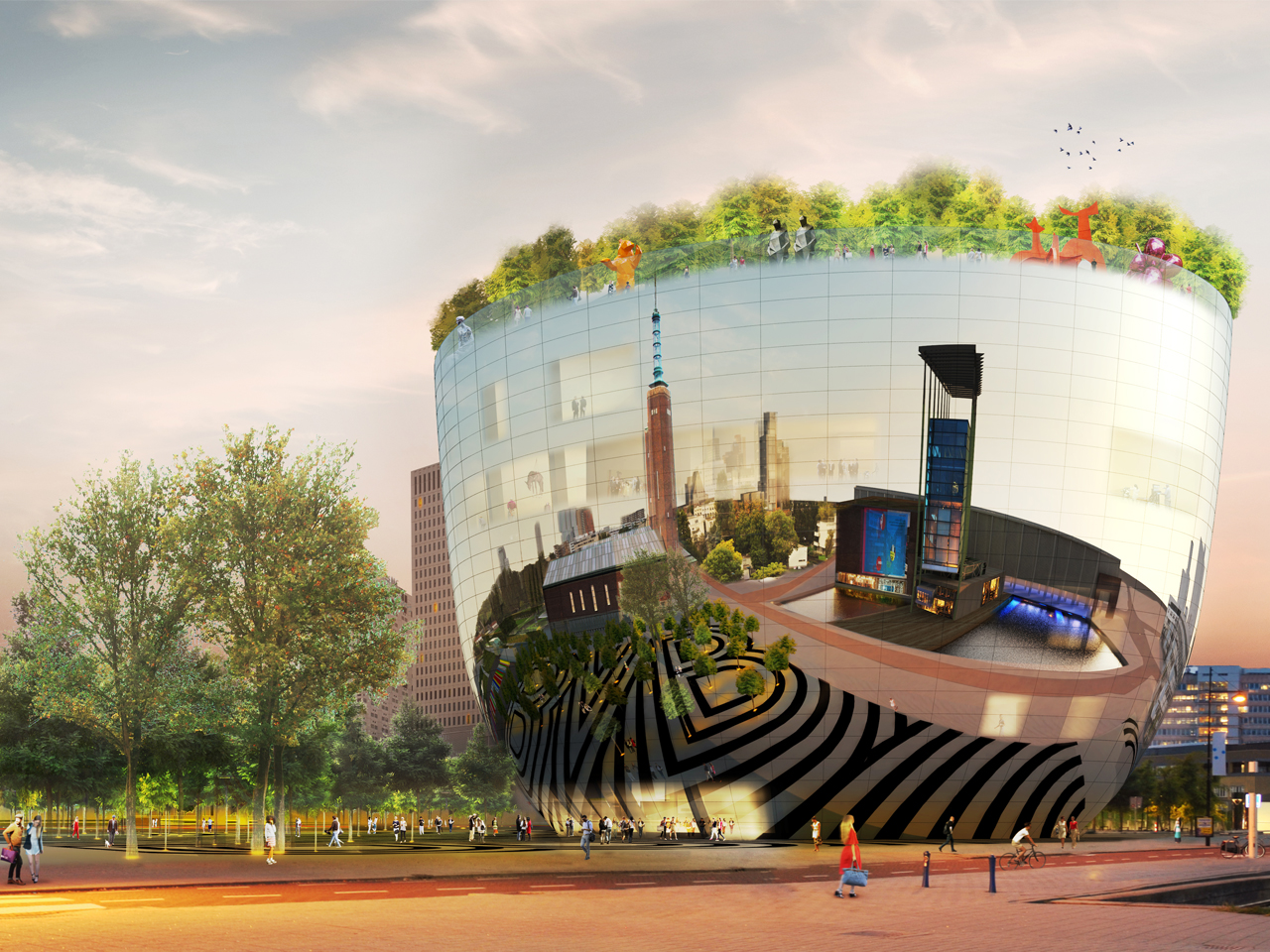MVRDV's proposal for the  new Boijmans Art Depot in Rotterdam.