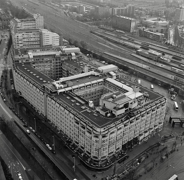 Kriterion, one of the largest building in Netherlands at the time it was built, and also as one of the first buildings after the bombing of Rotterdam in WWII.
