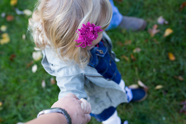 little girl holding my hand