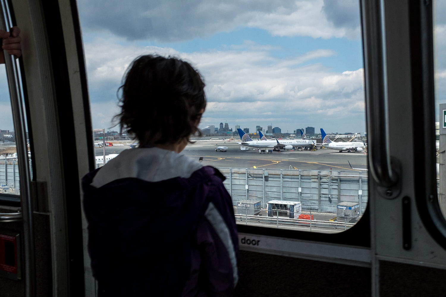 looking at airplanes