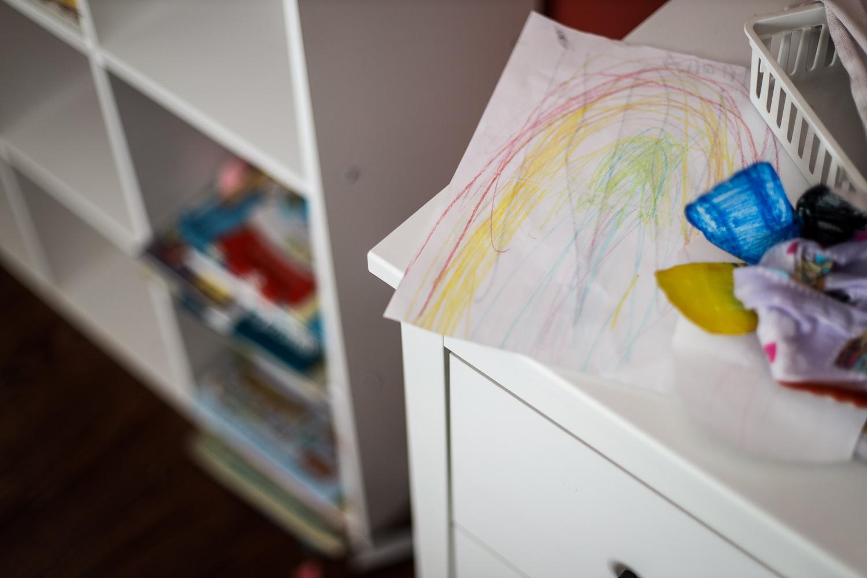 Daughter drew a rainbow