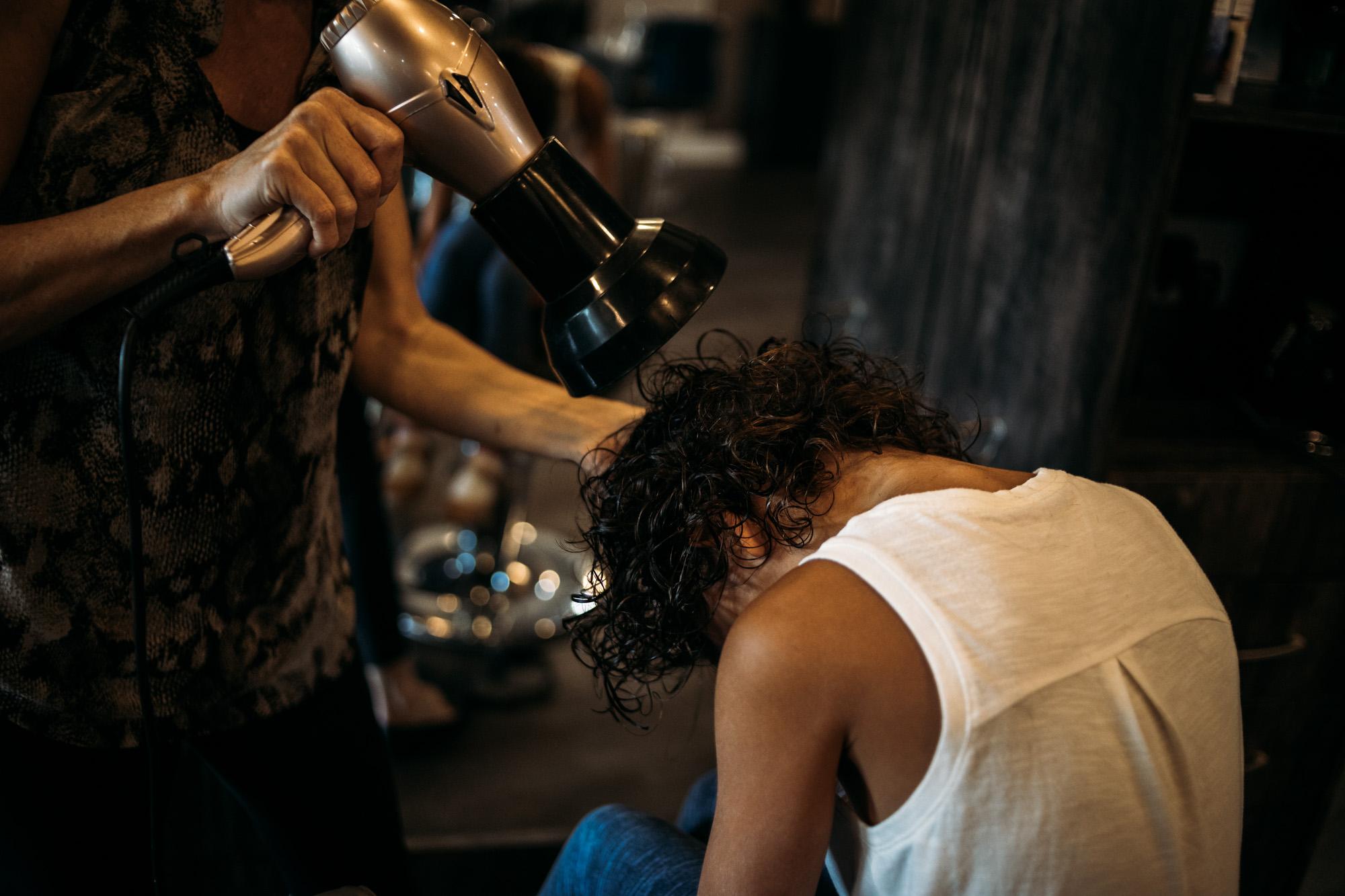 curly girl haircut