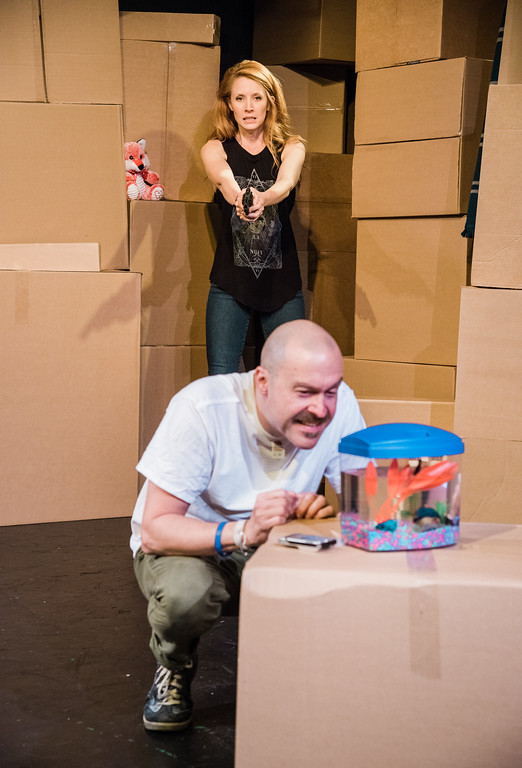 My Goldfish Loves Me but I Hate Your Guts, John Warren as Trevor, Hannah Jane McMurray* as Maggie