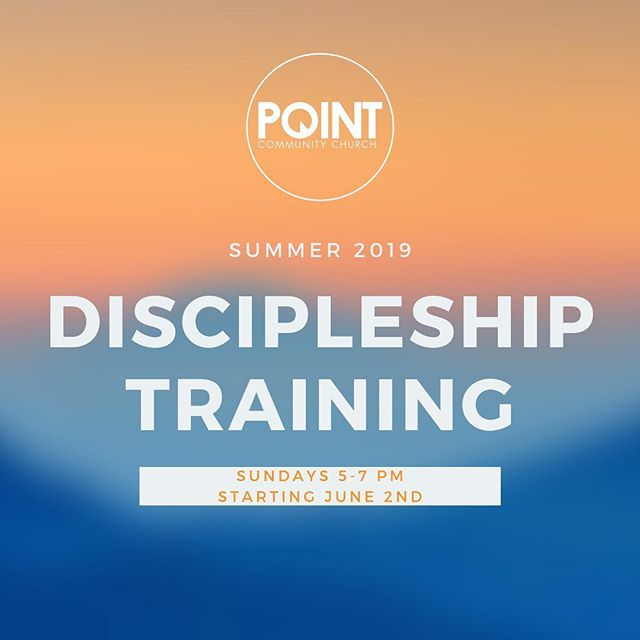 We're hosting a discipleship training over the next couple of months from 5-7 PM at the building. Our time is focused on how our church family can live out Jesus' instructions to make disciples. Everyone is invited! *childcare provided*