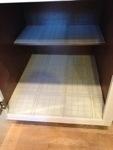 Linoleum in a cabinet???