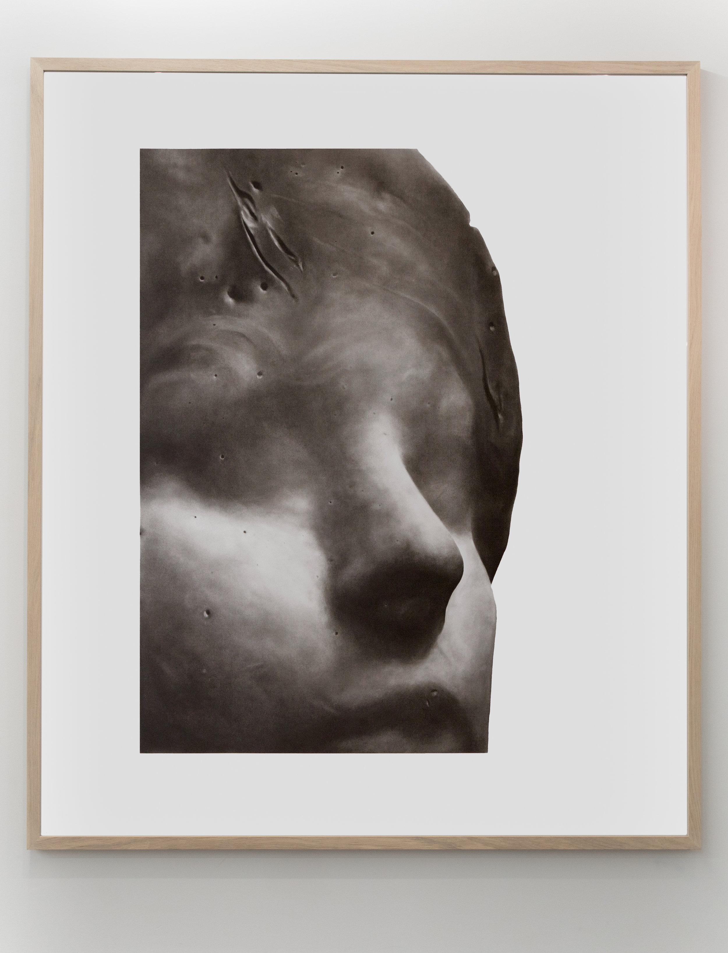 Fragment (Big Head III)    Charcoal on paper 157x184 cm 2017