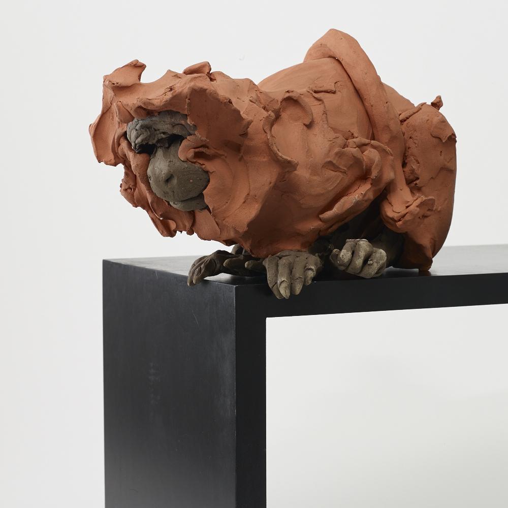 Golden Lion Tamarin I    Clay 23x42x25 cm 2016