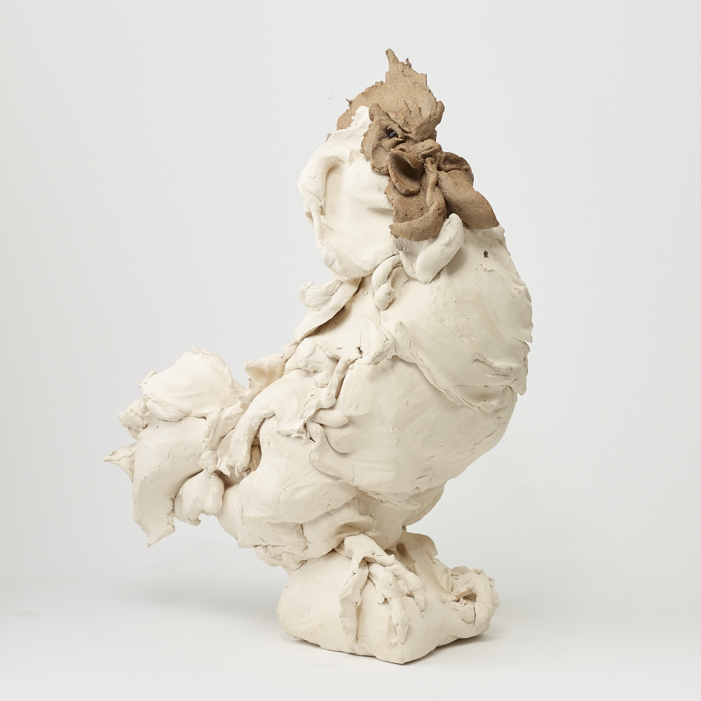 Rooster I    Clay 62x48x25 cm 2016