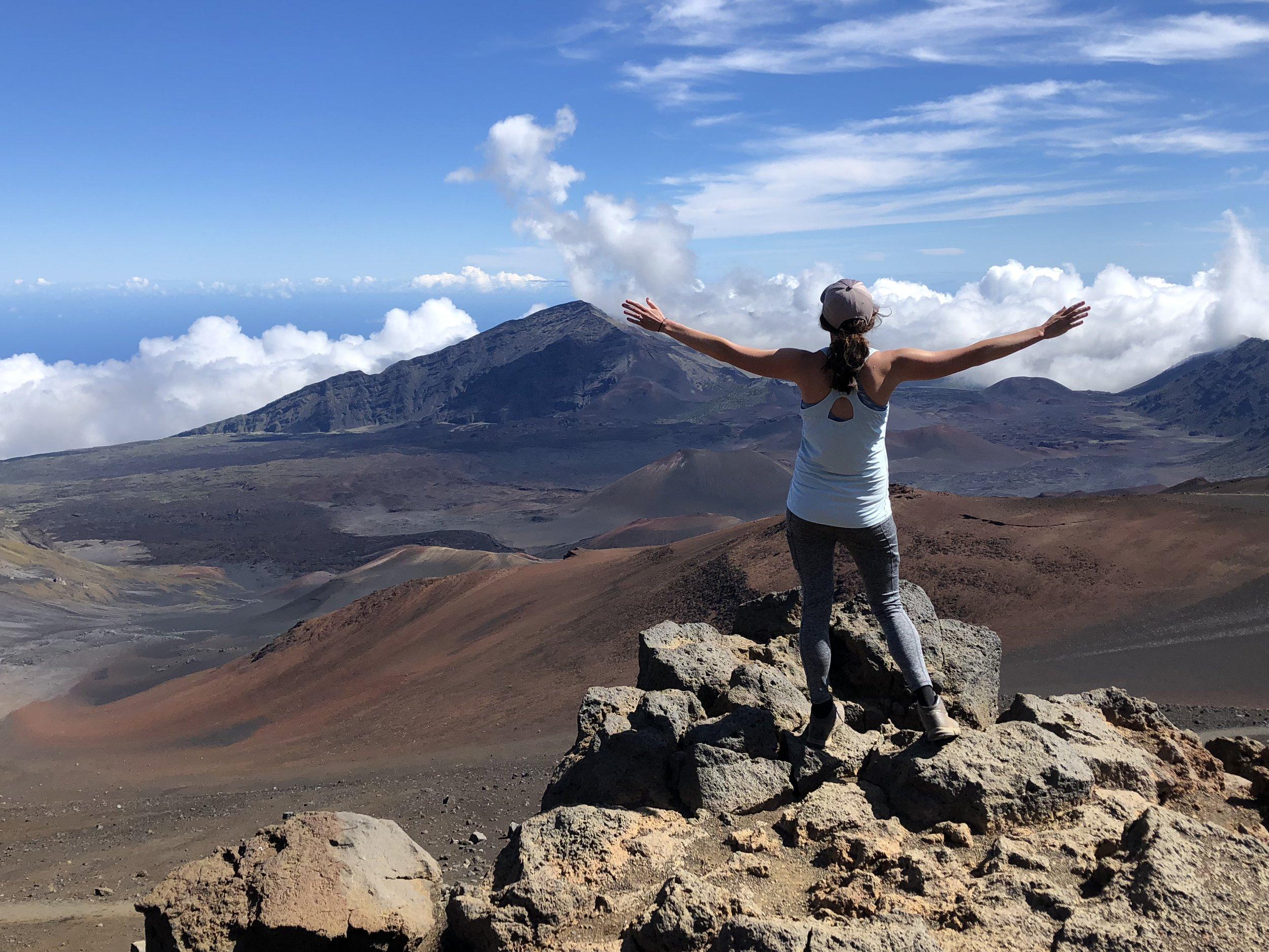 Melissa recently hiked Haleakala National Park in Maui!