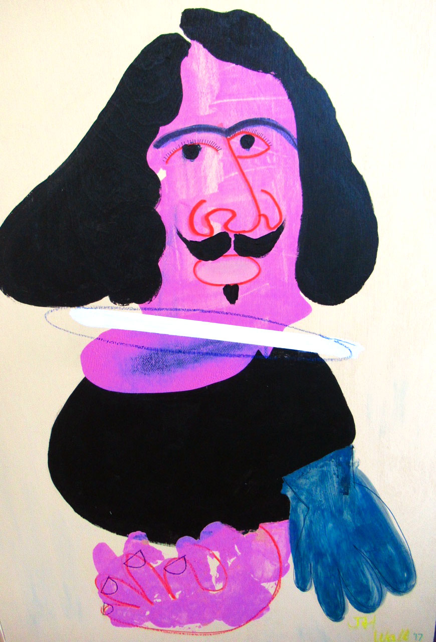 """ After Self-portrait by Velasquez"""