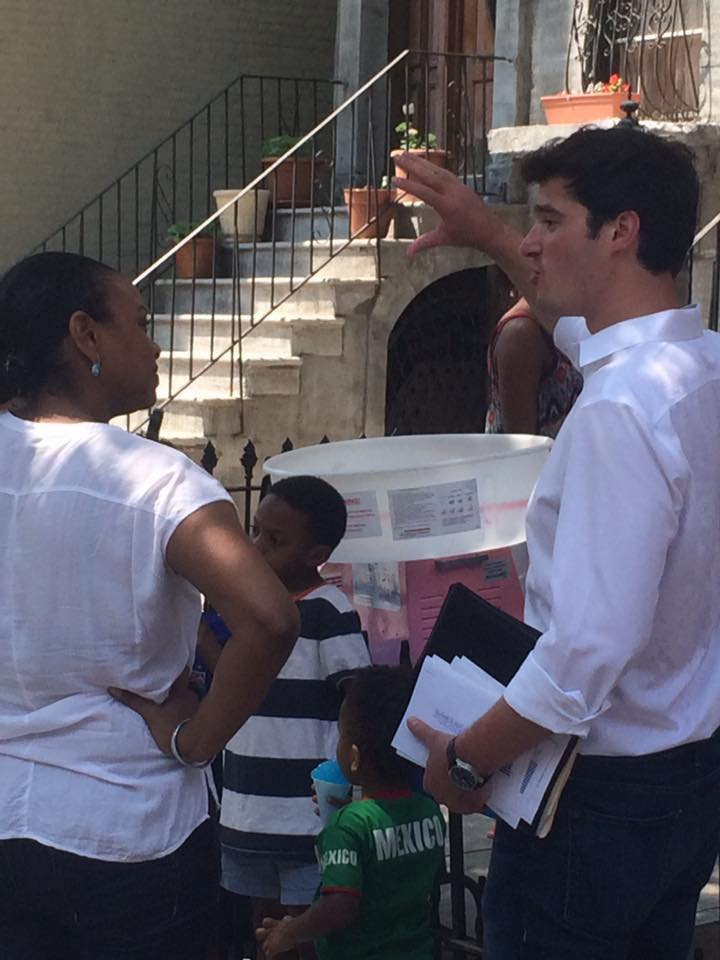 Out in Bed-Stuy meeting the community. Despite the heat we were all out talking about the future of NYC   #Onward