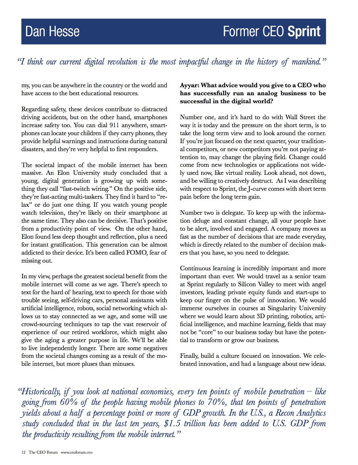 CEO Forum Magazine - Page 12