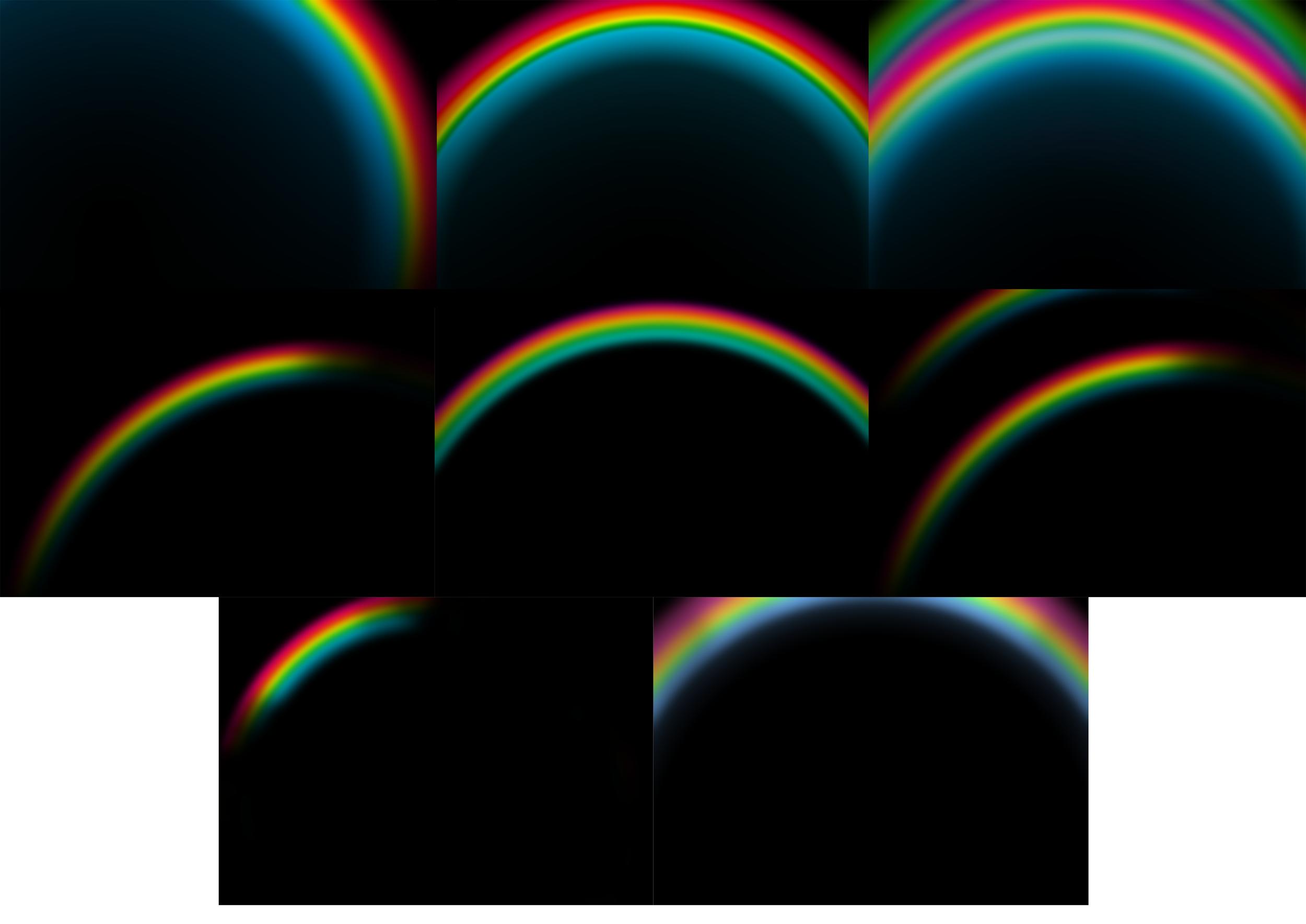 rainbow overlays