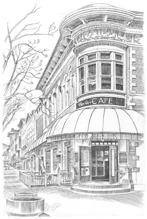 Boulder Cafe Sketch