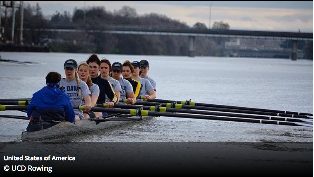 Women's Varsity 8 image selected as winner in World rowing's #internationalwomensday photo contest.
