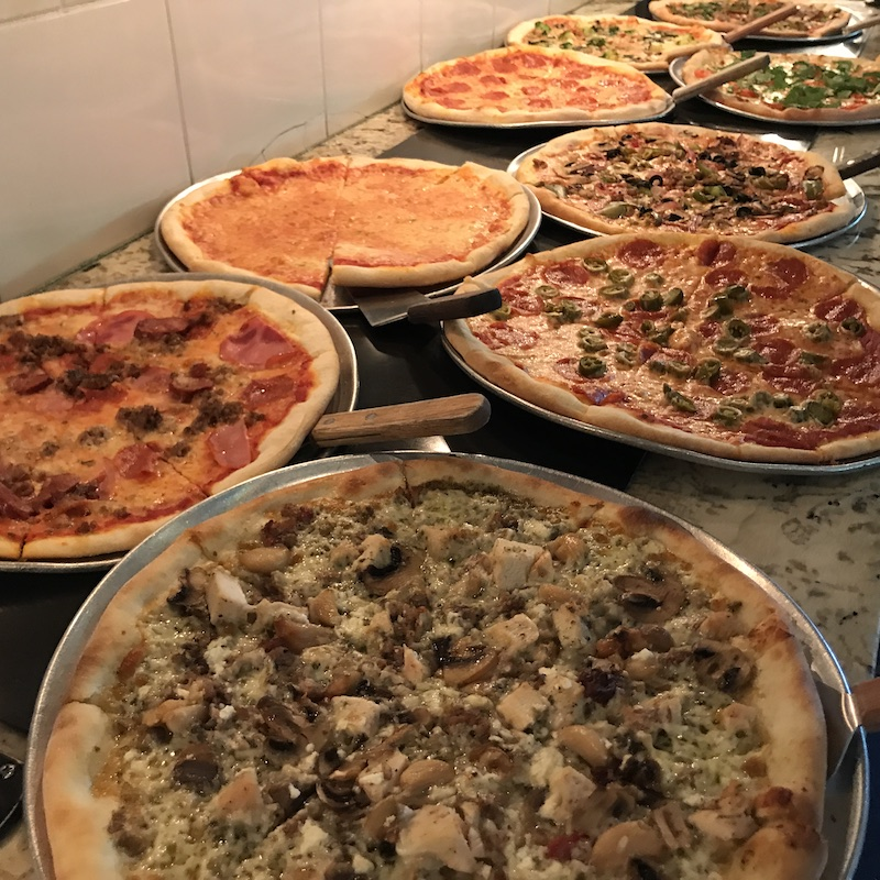 best pizza in houston candelari's catering buffet